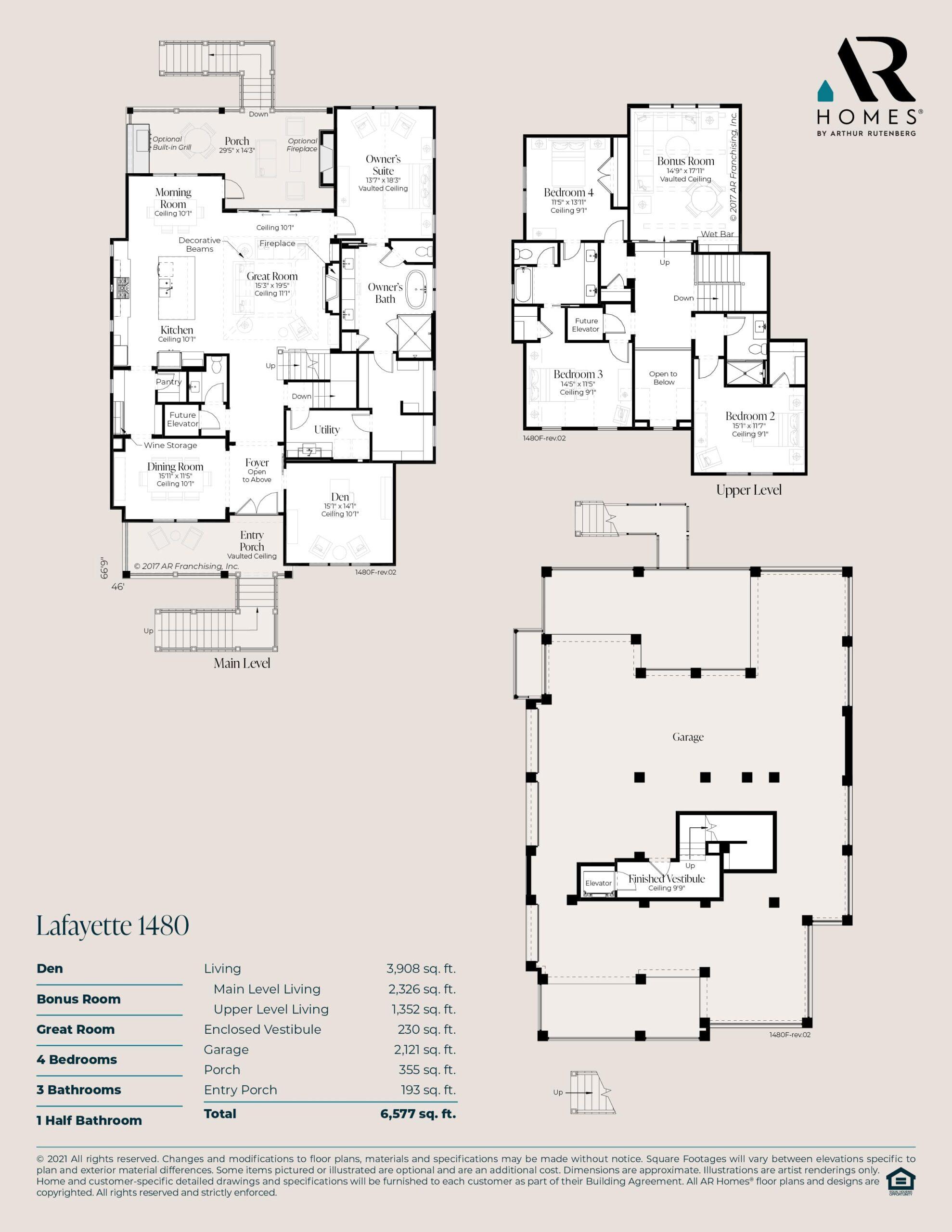 Lafayette 1480 Floor Plan