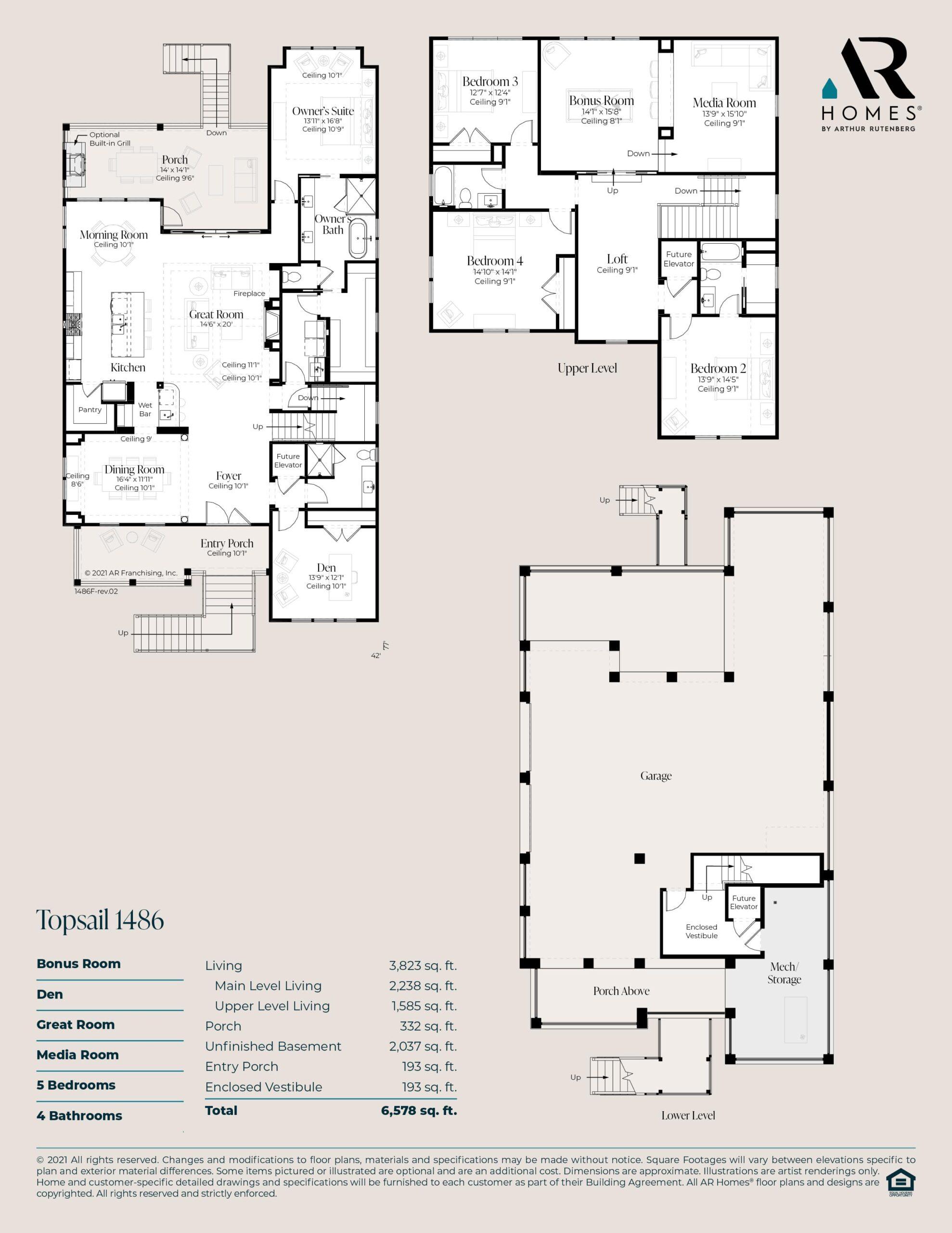 Topsail 1486 Floor Plan